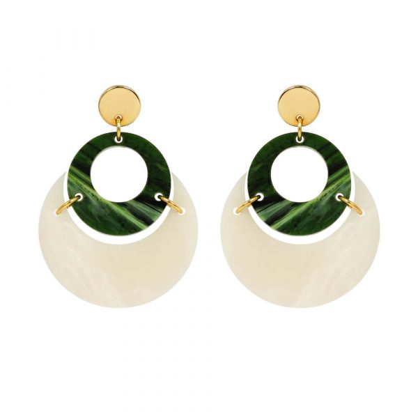 Toolally By Moonlight Earrings in Alabasta and jade product Image