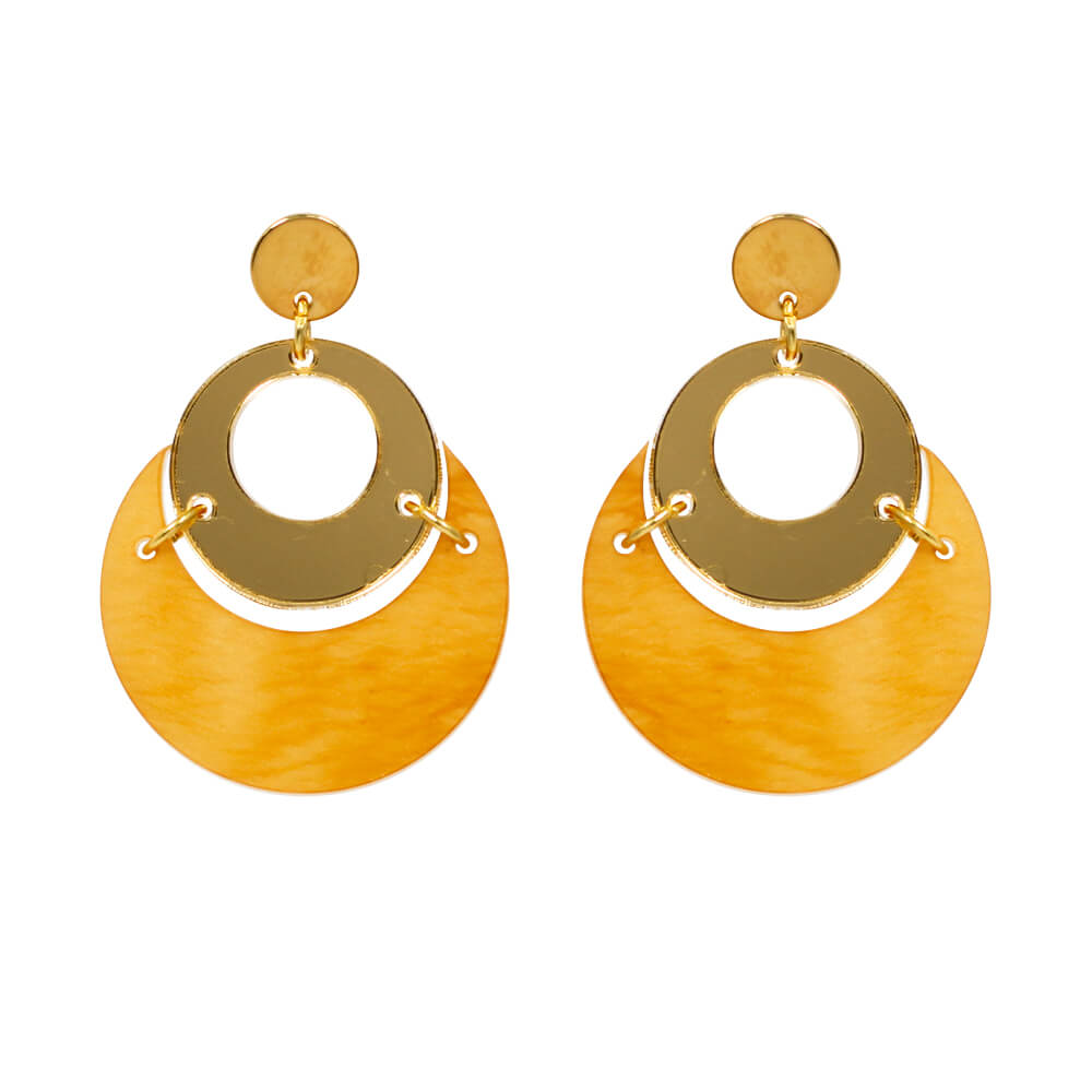 Toolally By Moonlight Earrings in Mica and Gold product Image
