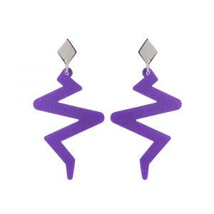 Toolally Beats Earrings Purple Product Image