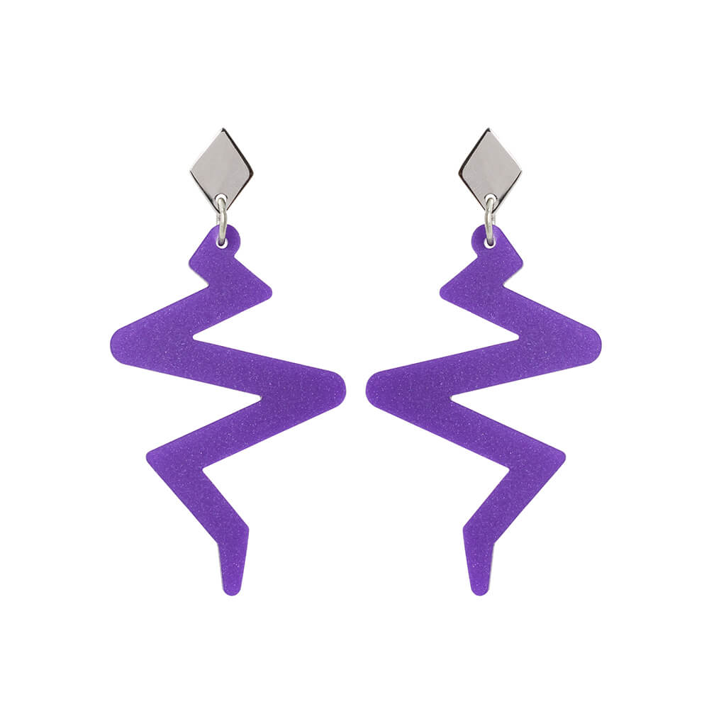 Toolally Beats Earrings Purple Product Image