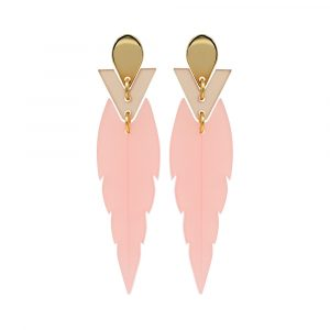 Toolally Mini Kingfishers Earrings Pink Product Image