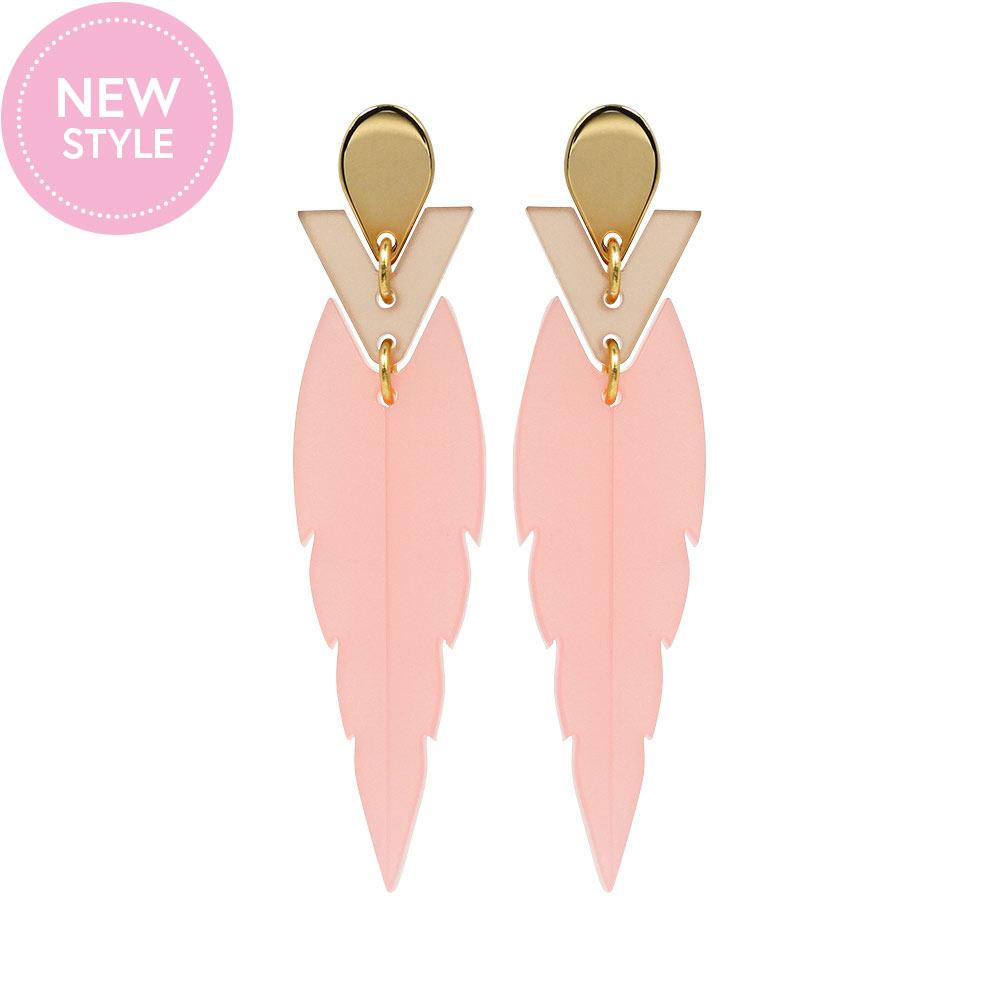 Toolally Mini Kingfishers Earrings Pink Product Image