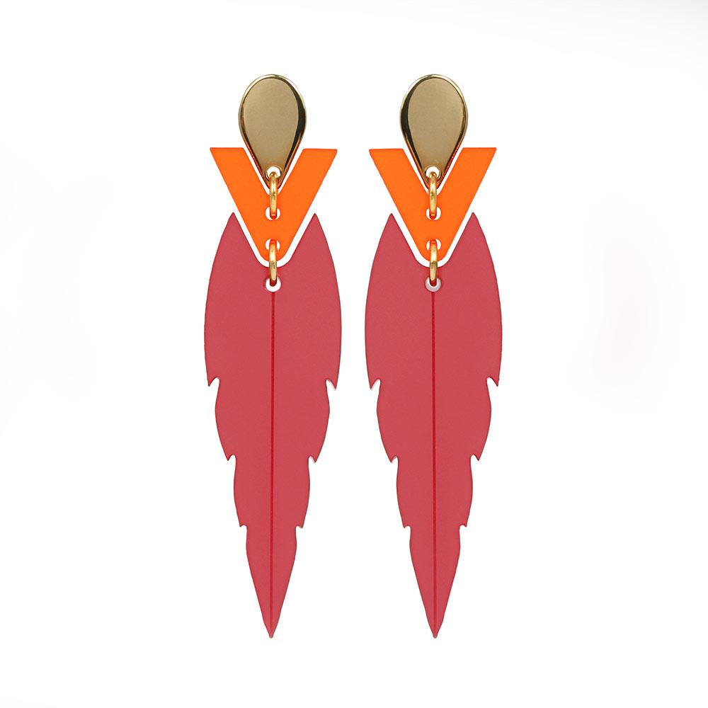 Toolally Mini Kingfishers in raspberry and mandarin orange