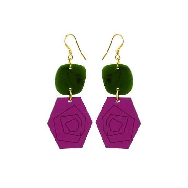 Abstract Roses - Plum_Jade
