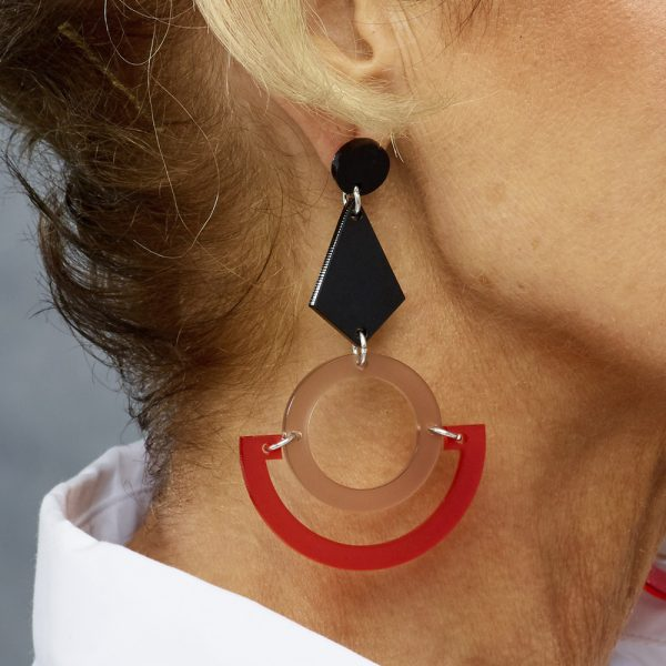 Toolally Boatmen Earrings Chilli Red