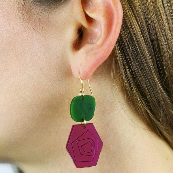 Toolally_Abstract_Roses_Plum_Jade_Earrings_LIfestyle