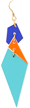 Toolally Abstract Diamonds Azure Mandarin App