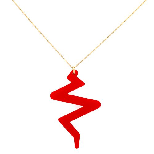 Beats Necklace - Royal Red
