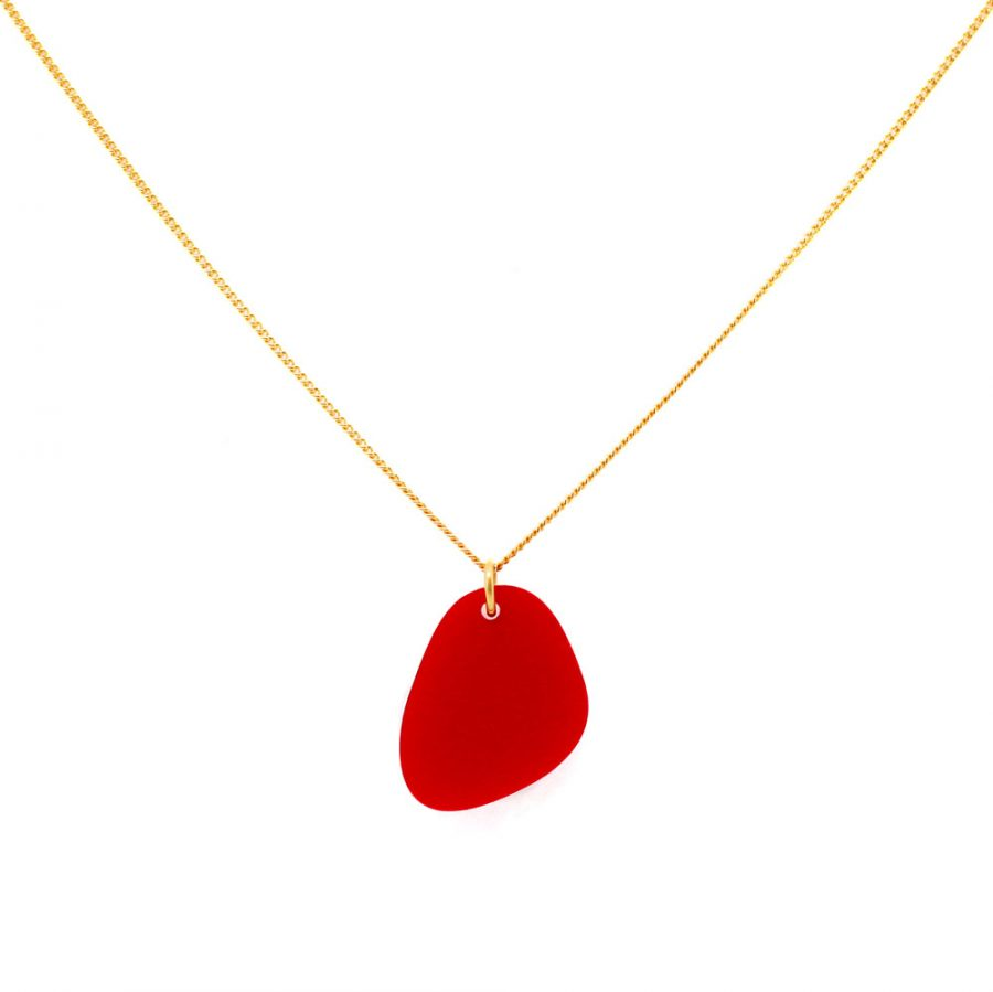 Pebbles Necklace - Royal Red