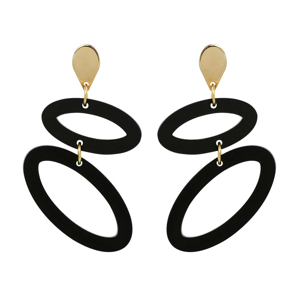 Toolally Ellipses - Black & Gold