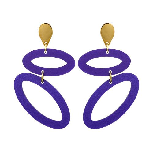 Toolally Ellipses - Royal Purple
