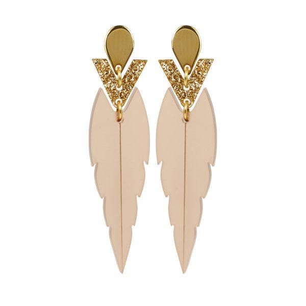 Toolally Mini Kingfishers Nude & Glitter