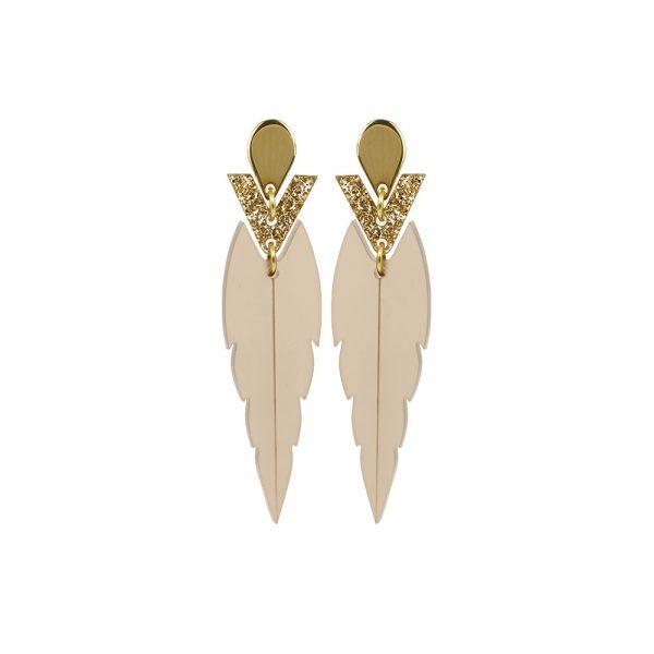 Toolally Mini Kingfishers Nude & Gold Glitter Product Image