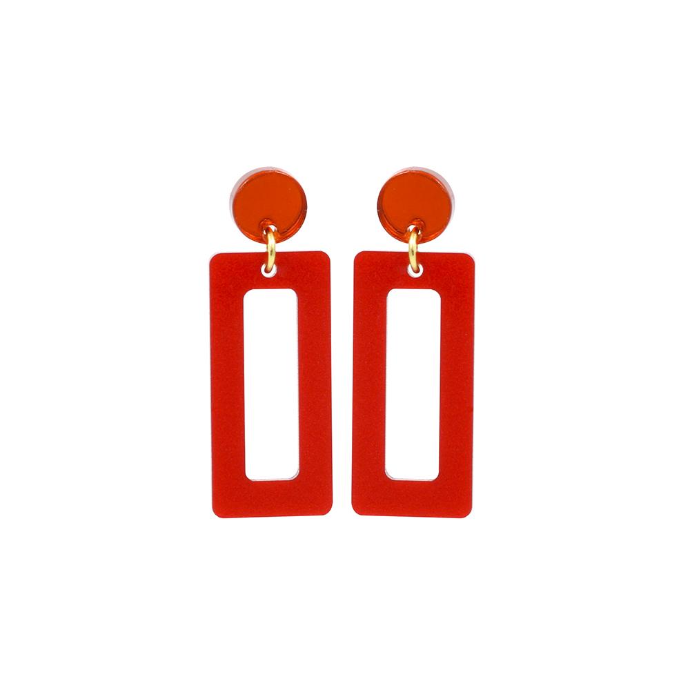 Toolally Petite Hemingways Royal Red & Orange Mirror Product Image