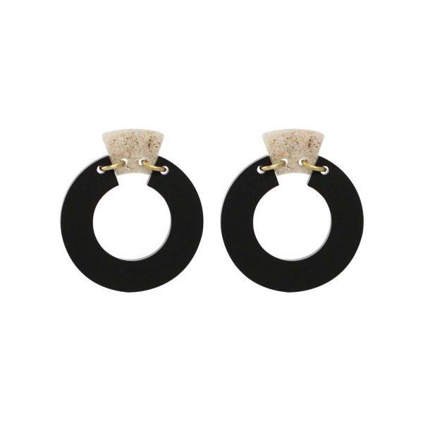 Toolally Petite Shift Hoops - Black & Sandstone