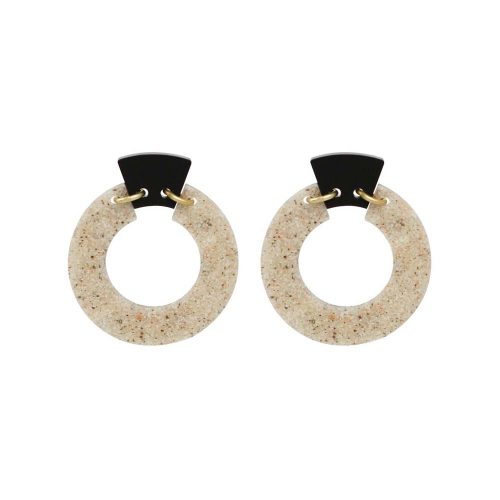 Toolally Petite Shift Hoops - Sandstone & Black