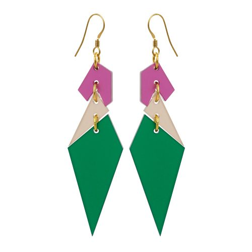 Toolally_Abstract_Diamonds_Emerald_Earrings