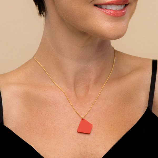 Trapezium necklace - Royal Red