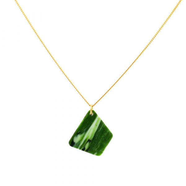 Trapeziums Necklace - Jade