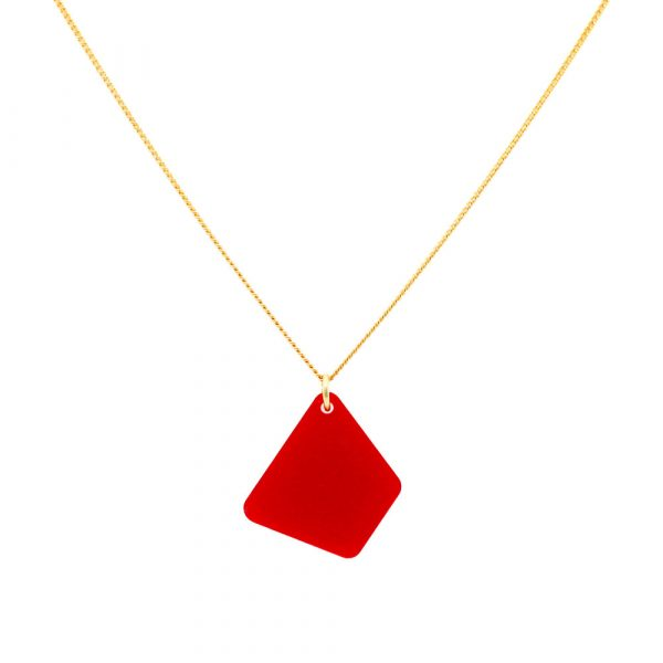 Trapizium Necklace - Royal Red