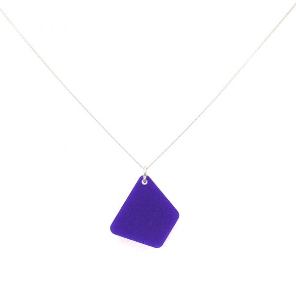 Trapizium Necklaces - Royal Purple