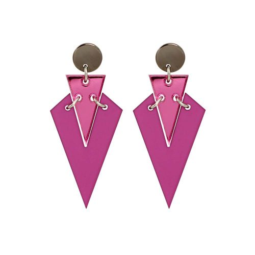 Toolally Art Deco Droplets - Plum & Pink Mirror