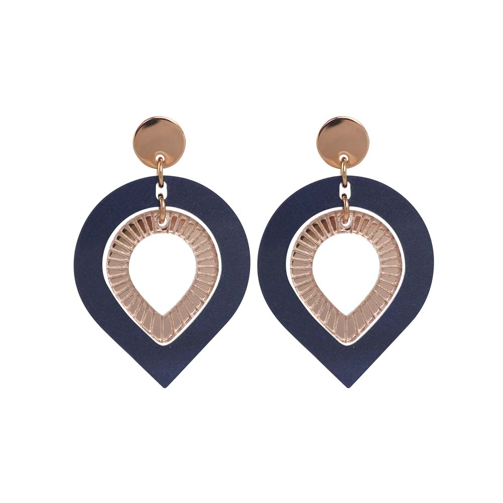 Toolally Garbos - Navy Pearl & Rose Gold