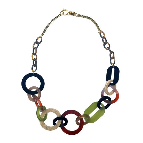 Toolally Links Short Tortoiseshell, Peridot & Navy