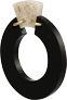 Toolally Petite Shift Hoops Black and Sandstone App image