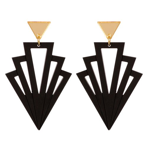 Art Deco Arrows - Black