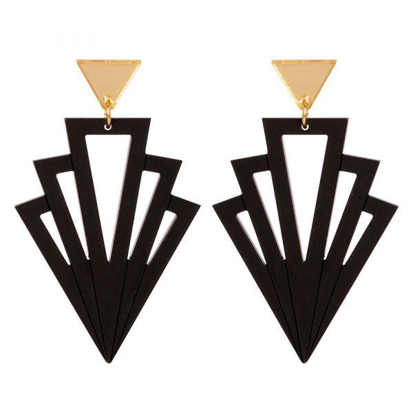 Art Deco Arrows - Black