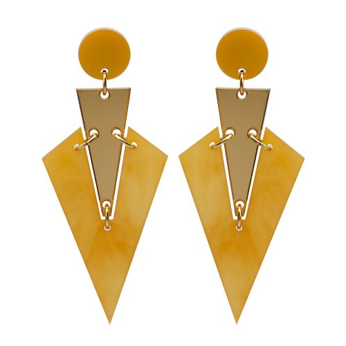 Toolally Art Deco Drops Mica & Gold Mirror