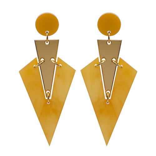 Toolally Art Deco Drops Mica & Gold Mirror