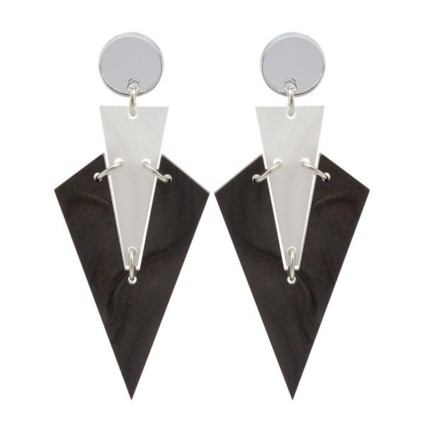 Toolally Art Deco Drops Smoky Marble & White Marble