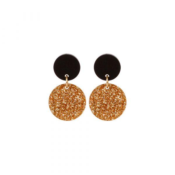 Toolally Dotty Dots Gold Glitter & Black
