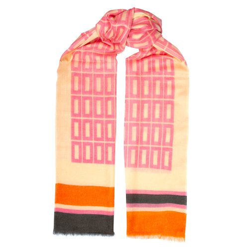 Toolally Hemingways Scarf Pink & Orange