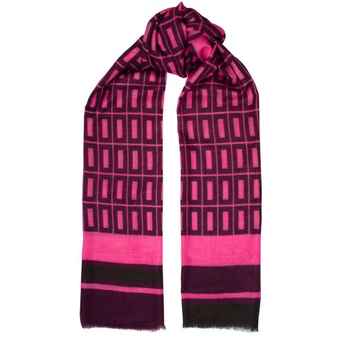 Toolally Hemingways Scarf Pink & Plum
