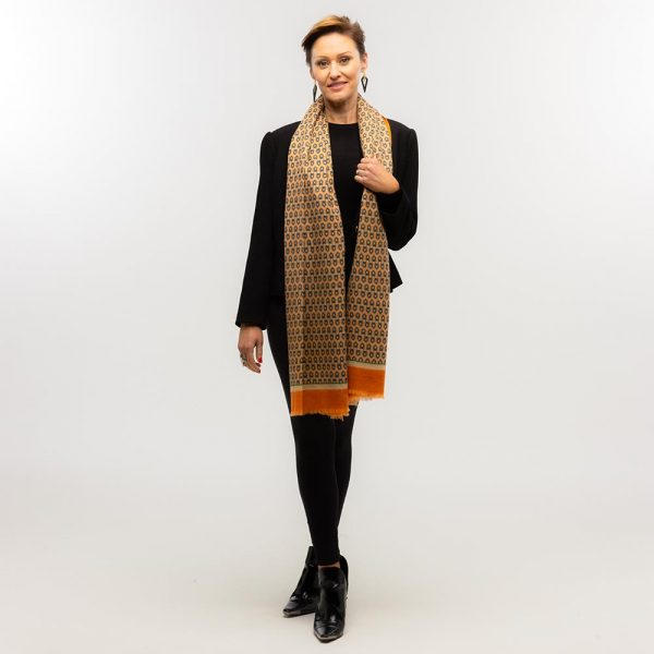 Toolally Houndstooth Scarf Orange Lifestyle 1