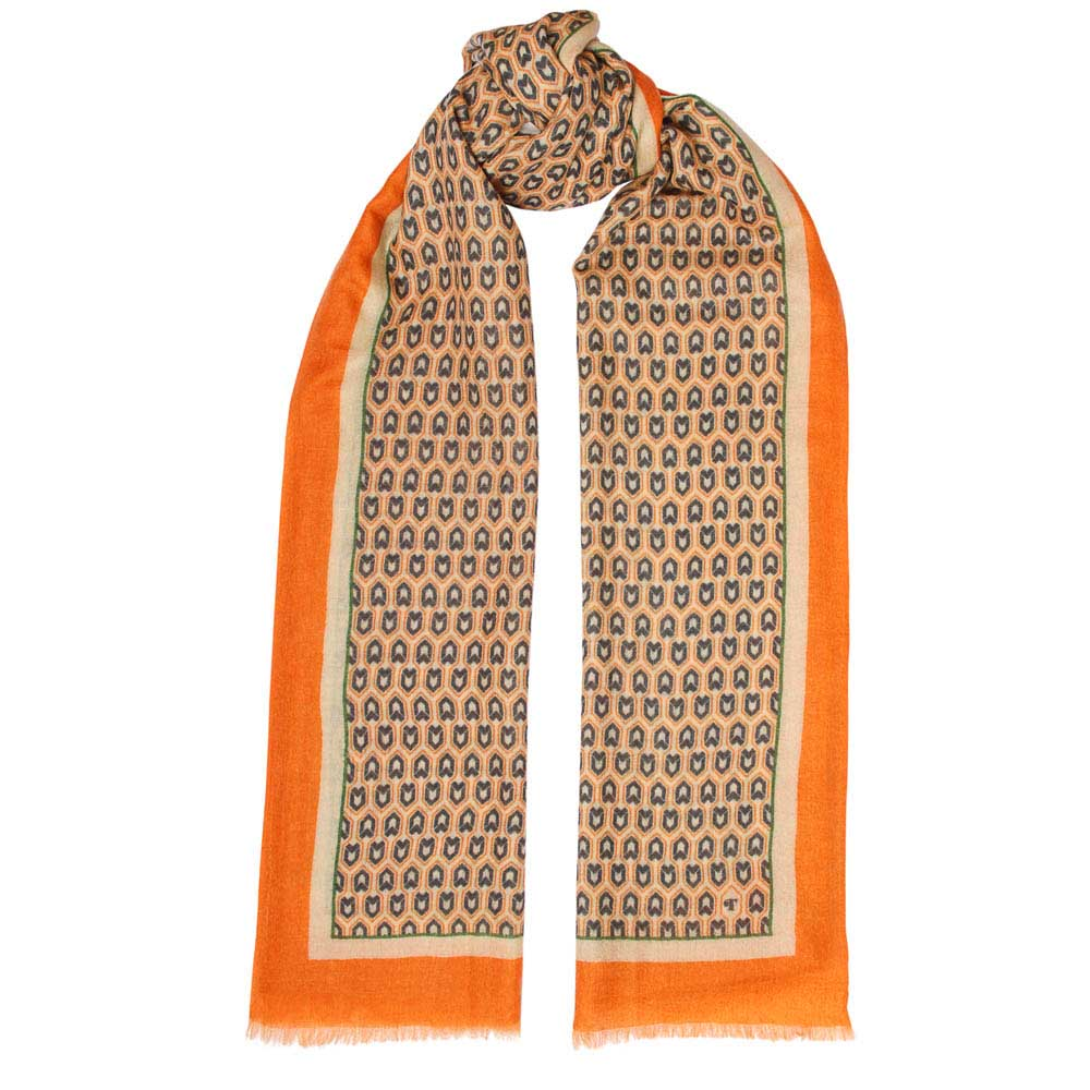 Toolally Houndstooth Scarf Orange