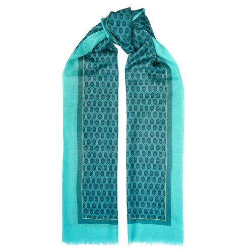 Toolally Houndstooth Scarf Turquoise
