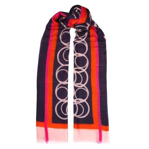 Toolally LBD Hoop Scarf Navy & Pink