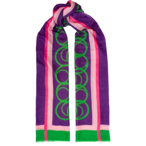 Toolally LBD Hoop Scarf Purple & Green
