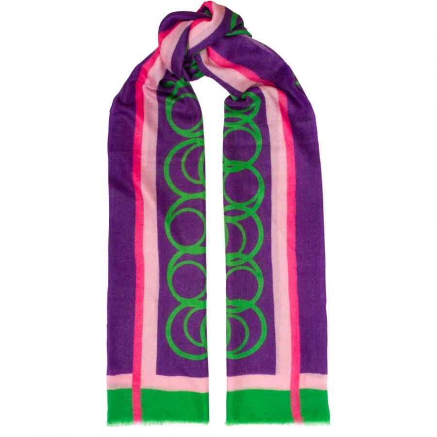 Toolally LBD Hoop Scarf Purple & Green
