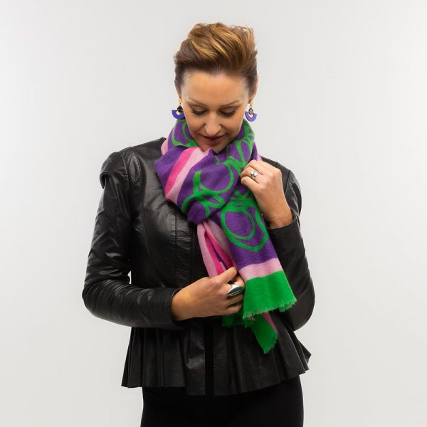 Toolally LBD Hoop Scarf Purple & Green Lifestyle 2