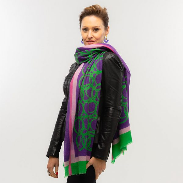 Toolally LBD Hoop Scarf Purple & Green Lifestyle 3