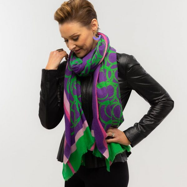 Toolally LBD Hoop Scarf Purple & Green Lifestyle 4