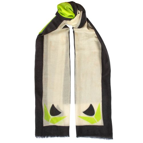 Toolally Tulip Scarf Lime & Black