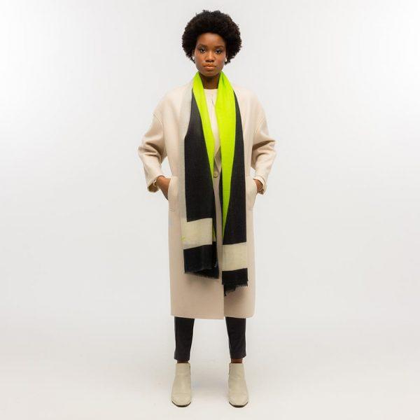 Toolally Tulip Scarf Lime & Black Lifestyle 1