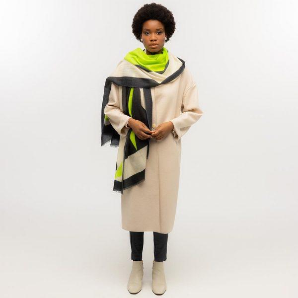 Toolally Tulip Scarf Lime & Black Lifestyle 3