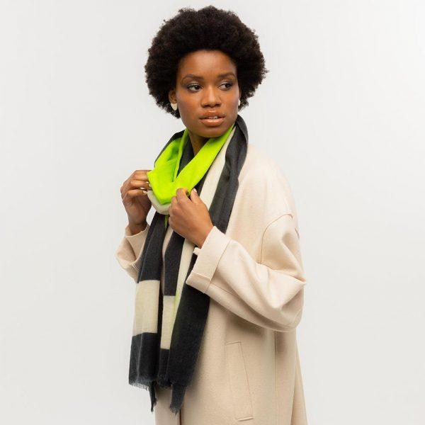 Toolally Tulip Scarf Lime & Black Lifestyle 4